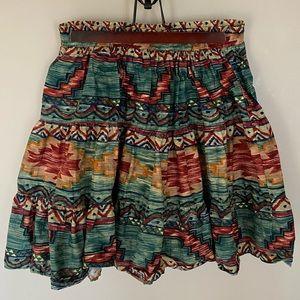 Vintage Roper Red and Green Western | Boho Skirt